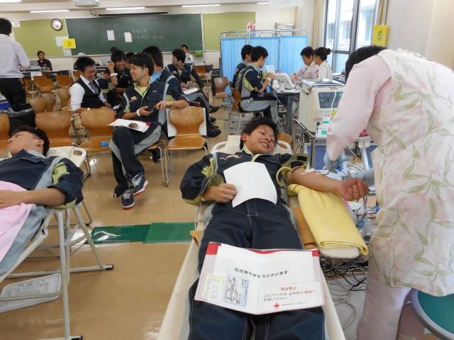 献血中!!