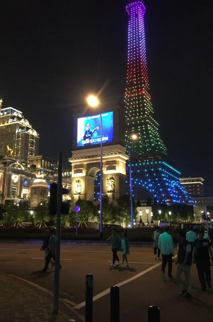 ⑫マカオ ホテル パリジャン夜景